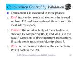 concurrency control by validation2