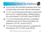concurrency control by validation3