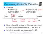 concurrency control by validation6