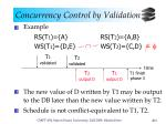 concurrency control by validation7