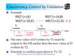 concurrency control by validation8