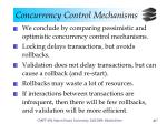 concurrency control mechanisms