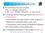 enforcing serializability by locks1