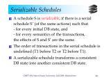 serializable schedules