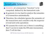 serializable schedules4