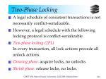 two phase locking