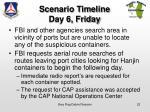 scenario timeline day 6 friday