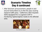scenario timeline day 8 continued