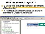 how to define days