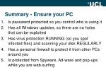 summary ensure your pc