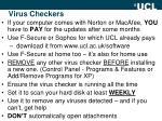 virus checkers