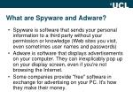 what are spyware and adware