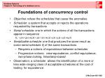 foundations of concurrency control