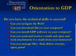 orientation to gdp1