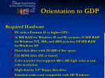 orientation to gdp2