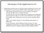 advantages of the application level