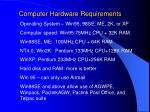 computer hardware requirements