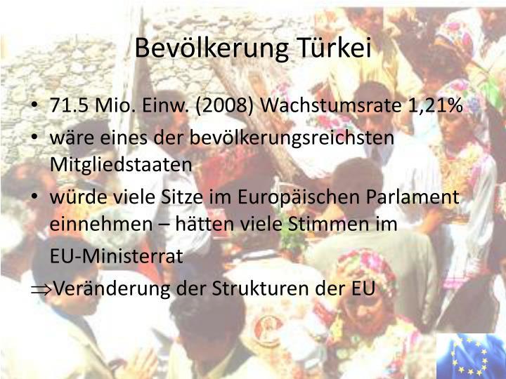 Bevölkerung Türkei