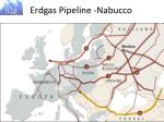 erdgas pipeline nabucco