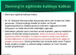 deming in e itimde kaliteye katk s