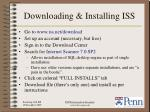 downloading installing iss