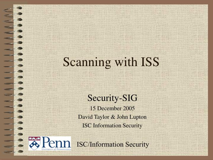 scanning with iss n.