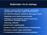 radixindex t z v m rlege