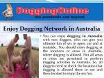 enjoy dogging network in australia