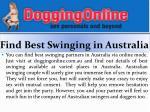 find best swinging in australia