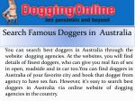 search famous doggers in australia