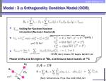 model 3 orthogonality condition model ocm