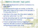 address decoder logic gates1