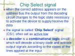 chip select signal