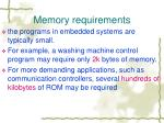 memory requirements1