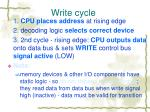 write cycle