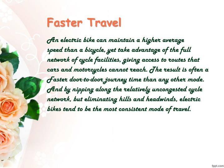 Faster Travel