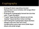cryptograph y