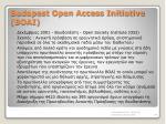 budapest open access initiative boai