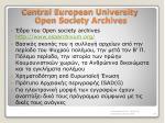 central european university open society archives
