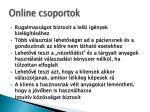 online csoportok
