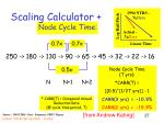 scaling calculator node cycle time