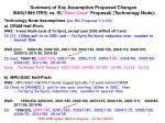 summary of key assumption proposed changes was 1999 itrs vs is best case proposal technology node