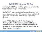 impactent emploi 2017 org