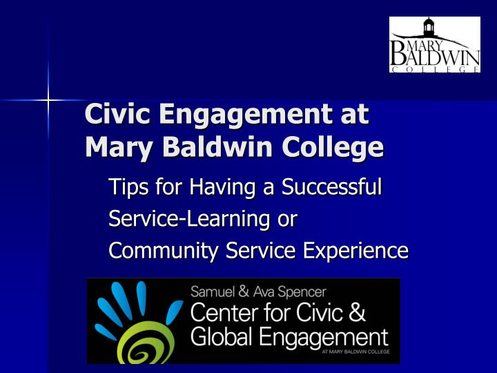 civic engagement at mary baldwin college n.