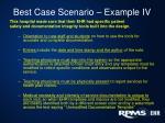best case scenario example iv