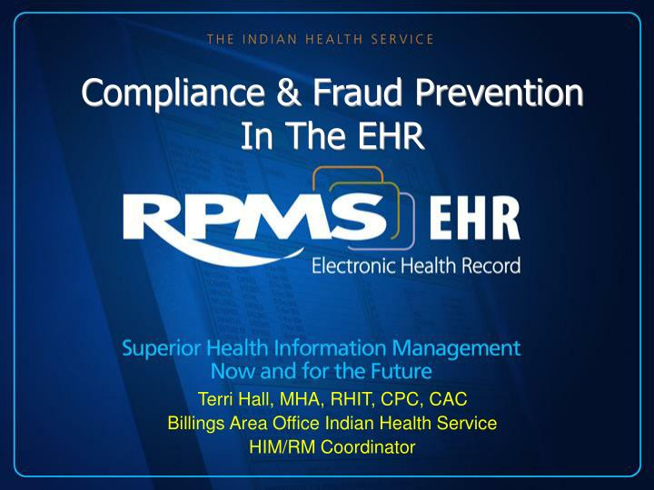 compliance fraud prevention in the ehr n.