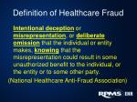 definition of healthcare fraud