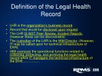 definition of the legal health record1