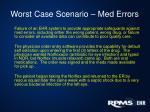 worst case scenario med errors