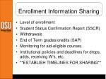 enrollment information sharing